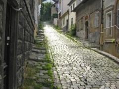 Cobblestone street in Szentendre
